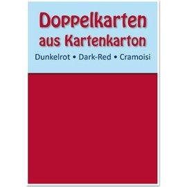 KARTEN und Zubehör / Cards 10 cartões duplas A6, vermelho escuro, 250 g / m²