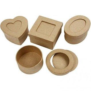 Objekten zum Dekorieren / objects for decorating Passepartout-kasser, D: 7,5 cm, 4 forskellige