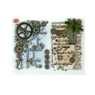 My paperworld (Viva Decor) Gennemsigtige frimærker, Steampunk
