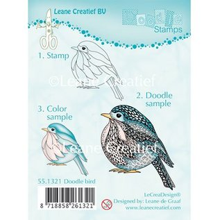Leane Creatief - Lea'bilities Transparent Stempel, Doodle Vogel