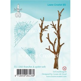 Leane Creatief - Lea'bilities Transparent stamps, branches and Spinnewebe