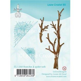 Leane Creatief - Lea'bilities Transparent Stempel, Zweige und Spinnewebe