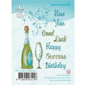 Leane Creatief - Lea'bilities Transparent Stempel, Feier, Fest, Sekt, Champagne