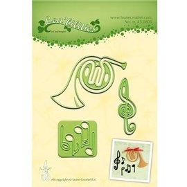 Leane Creatief - Lea'bilities und By Lene Corte y estampado en relieve plantillas Lea'bilitie, instrumento musical y partituras