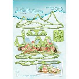 Leane Creatief - Lea'bilities Découpe et pochoirs de gaufrage Lea'bilitie, paysage avec des maisons