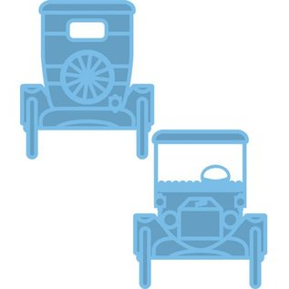 Marianne Design Stempling og prægning stencil, Creatables - T-Ford