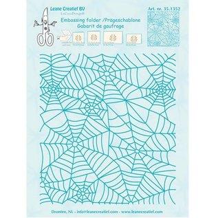 Leane Creatief - Lea'bilities Prægning Mappe: Spinnewebe mønster