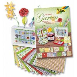 DESIGNER BLÖCKE / DESIGNER PAPER Motifblock Garden, 24x34cm, 26 Blatt