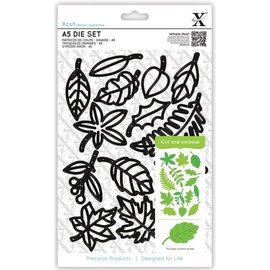 Docrafts / X-Cut Corte e de estampagem estênceis Xcut Grande: Folhas