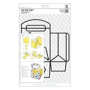 Docrafts / X-Cut A4 Stanz- und Prägeschablonen, 3D Schachtel