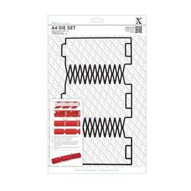 Docrafts / X-Cut SPECIAL modèle A4 de poinçon (1pc), Geschenkschachtel: pétards de Noël