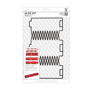 Docrafts / X-Cut A4 Stanzschablone (1Stk), Geschenk Schachtel: Weihnachtscracker