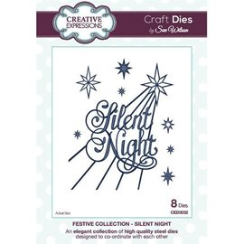 CREATIVE EXPRESSIONS und COUTURE CREATIONS Kreative udtryk, The Festlig Collection, Silent Night