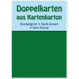 KARTEN und Zubehör / Cards 10 cartões duplas A6, verde escuro, 250 g / m²