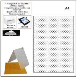 embossing Präge Folder pastas de estampagem A4: pontos