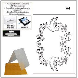 DARICE A4 embossing folders: decorative frame