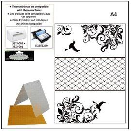 DARICE pastas de gravação em relevo A4: Frame decorativo