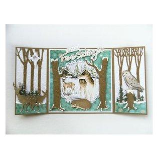 A4 ark med billeder vinter animals billeder og