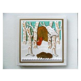 Marianne Design Skæring og prægning stencils, Tiny Dyr for, Fox og Pheasant