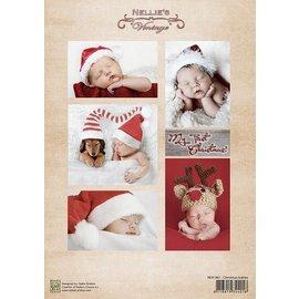 Nellie Snellen Decoupage sheet vintage jul babyer