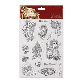 Docrafts / Papermania / Urban A5 Präzisionsstempel Set, Victorian Christmas - Engel