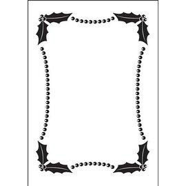 DARICE Embossing Folder: Embossing Folder, Kerstmis decoratieve frame (150x105mm)