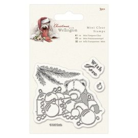 Papermania Transparante stempels, Wellington Bear Kerst