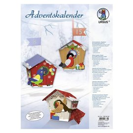 "BASTELSETS / CRAFT KITS Complete Bastelset for an Advent calendar ""birdie"""
