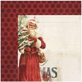 Designer Papier Scrapbooking: 30,5 x 30,5 cm Papier 1 Designer Arche, vintage de Noël, 30,5 x 30,5 cm