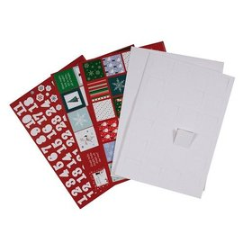 Komplett Sets / Kits Bastelset para projetar um calendário de advento, com 24 portas