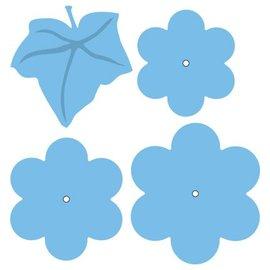 Marianne Design Corte e de estampagem estênceis, flor e folha XL