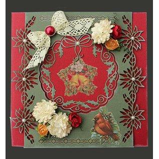 Joy!Crafts / Hobby Solutions Dies Stempling og prægning stencil: julestjerne krans