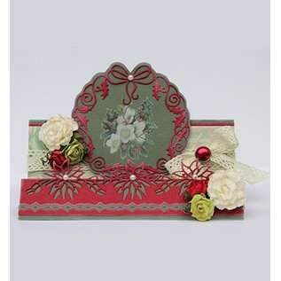 Joy!Crafts / Jeanine´s Art, Hobby Solutions Dies /  Estampage et Pochoir gaufrage: poinsettia guirlande