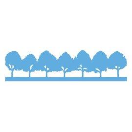 Marianne Design Estampage et Pochoir gaufrage, arbres Allee