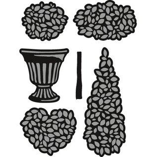 Marianne Design Couper et gaufrer des pochoirs, des plantes en pot Set