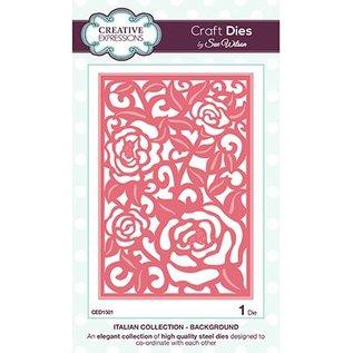 CREATIVE EXPRESSIONS und COUTURE CREATIONS Poinçonnage et de gaufrage modèle fond Roses motifs