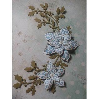 CREATIVE EXPRESSIONS und COUTURE CREATIONS Taglio e goffratura stencil, foglie e fiori (CED3010)