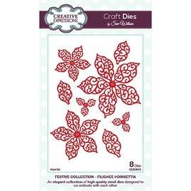 CREATIVE EXPRESSIONS und COUTURE CREATIONS Skæring og prægning stencils, blade og blomster (CED3010)