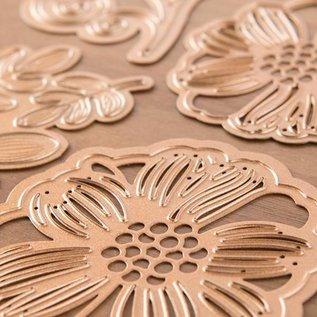 Spellbinders und Rayher Stanz- und Prägeschablonen, Shapeabilities, romantische Blüten