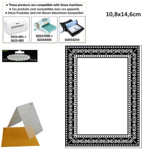 Embossing folders, with frame - Hobby-Crafts24.eu English