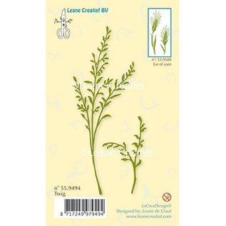 Leane Creatief - Lea'bilities Transparent Stempel, Zweig mit Blätter