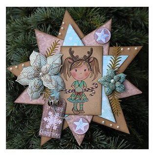 CREATIVE EXPRESSIONS und COUTURE CREATIONS Gummistempler, blomster Weihnachtsstern-