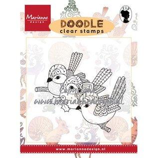 Stempel / Stamp: Transparent Stempel, transparant, 3 vogels