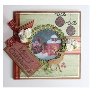 Joy!Crafts / Hobby Solutions Dies Punching and embossing templates, Christmas wreath and Hirsch