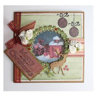 Joy!Crafts / Jeanine´s Art, Hobby Solutions Dies /  Stansning og prægning skabeloner, jul krans og Hirsch