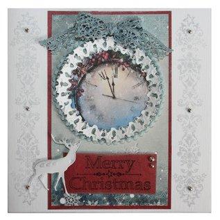 Joy!Crafts / Jeanine´s Art, Hobby Solutions Dies /  Stanz- und Prägeschablonen, Weihnachtskranz und Hirsch
