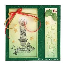 Leane Creatief - Lea'bilities Emboss.templ, Borde: campane di Natale