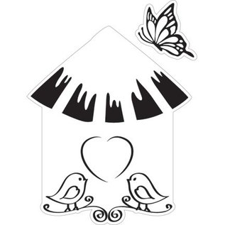 Marianne Design Stanz- und Prägeschablone + Stempel, Vogelhaus: Vogel