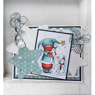 Marianne Design Skæring og prægning stencils, Christmas Star / Christmas Star