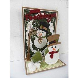 Marianne Design Corte e de estampagem estênceis boneco de neve